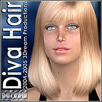 Diva Hair 3D Figure Assets 3Dream