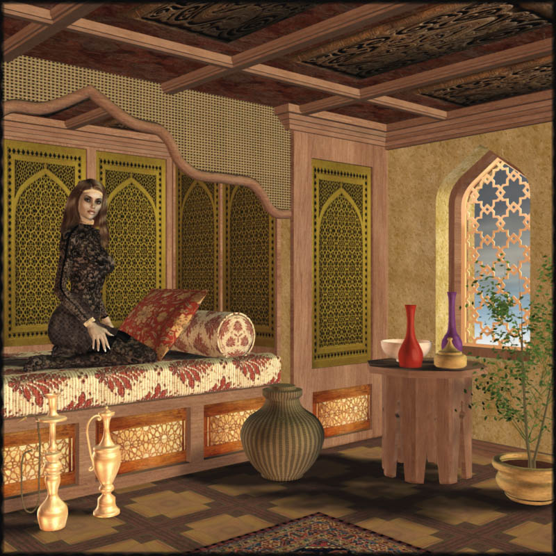 The Arabian Nights Bedroom. The Arabian Nights Bedroom 3D Models Richabri