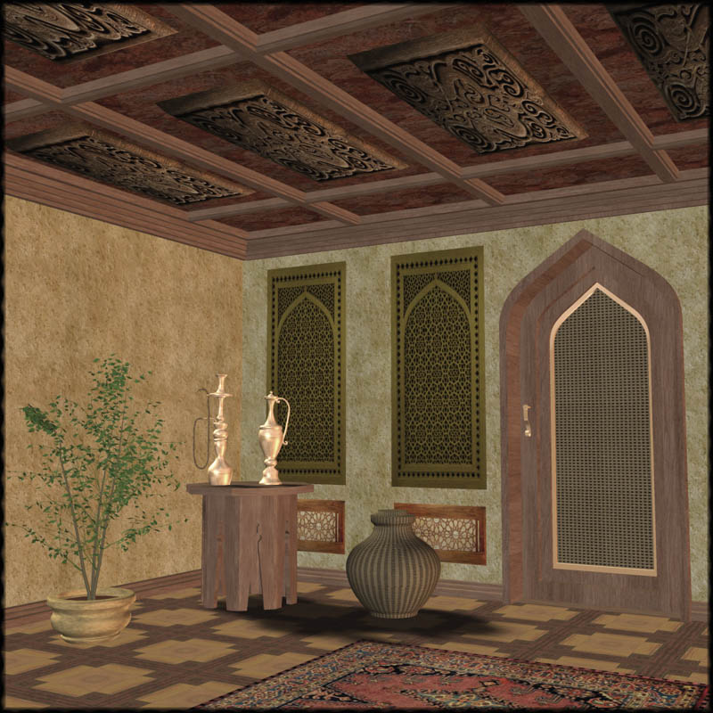 The arabian nights bedroom 3d models richabri for Arabian night bedroom ideas