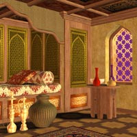 The Arabian Nights Bedroom 3D Models Richabri