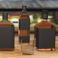Alcohol Bottles 3D Models ralaci