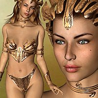 Queen Esmeralda - Character and outfit for V3 3D Figure Essentials Lory