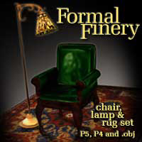 Formal Finery: Chair & Lamp by winnston1984