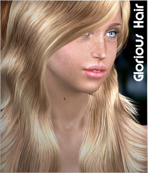Glorious Hair 3D Figure Assets 3Dream