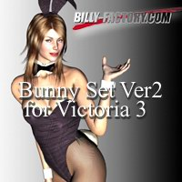 Bunny Girl Set for Victoria 3 Vers 2 3D Figure Assets billy-t