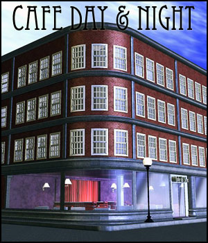 Cafe Day & Night (Poser, 3DS, Vue & OBJ) 3D Models RPublishing