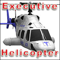 Executive Helicopter (Poser, LWO & Obj) 3D Models RPublishing