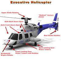 Executive Helicopter (Poser, LWO & Obj) image 3