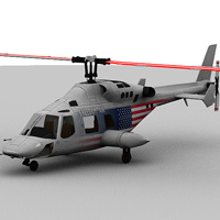 Executive Helicopter (Poser, LWO & Obj) image 1