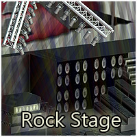 Rock Stage (Poser & OBJ) 3D Models RPublishing