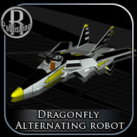 Dragonfly Alternating Robot 3D Models RPublishing