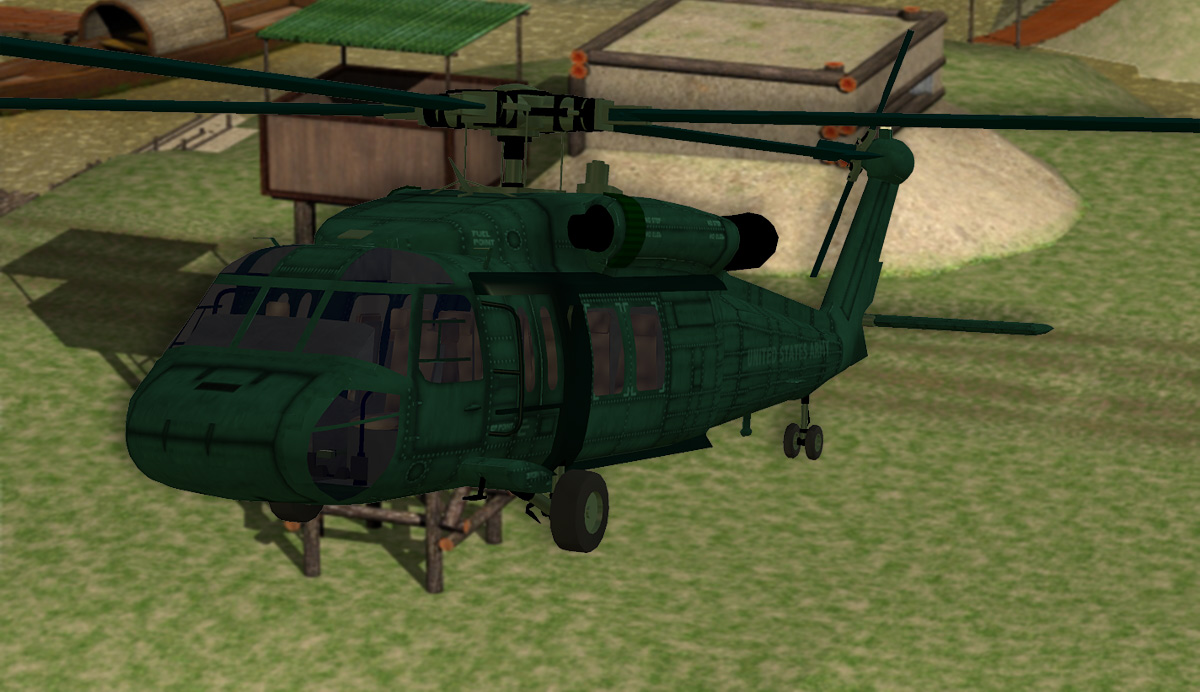 Blackhawk Helicopter (Poser & Vue) by RPublishing
