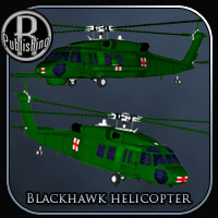 Blackhawk Helicopter (Poser & Vue) Stand Alone Figures Transportation Themed Props/Scenes/Architecture RPublishing