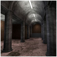 Column Hall & Patio (Poser,OBJ,Vue & 3DS) 3D Models RPublishing