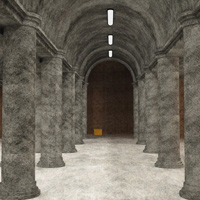 Column Hall and Patio (3DS, Obj, Vue and Poser) image 6