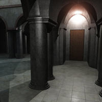Column Hall and Patio (3DS, Obj, Vue and Poser) image 7