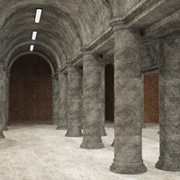 Column Hall and Patio (3DS, Obj, Vue and Poser) image 8