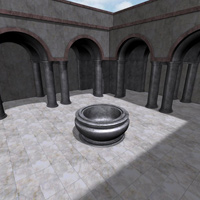 Column Hall and Patio (3DS, Obj, Vue and Poser) image 1