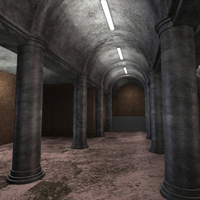 Column Hall and Patio (3DS, Obj, Vue and Poser) image 2
