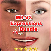 M3-V3 Expressions Bundle 3D Figure Essentials A_