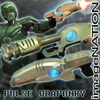 Pulse Weaponry 3D Models winnston1984