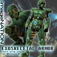 EXO Exoskeletal Armor 3D Models 3D Figure Assets winnston1984
