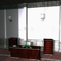 Luxury Reception Hall (Poser, 3DS & OBJ) image 4