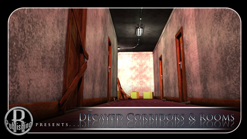 Decayed Corridor & Rooms for Poser