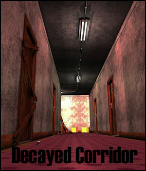 Decayed Corridor & Rooms for Poser 3D Models RPublishing