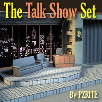 Talk Show Set 3D Models pzrite