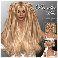 Paradise Hair 3D Figure Assets 3Dream