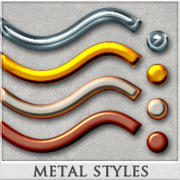 DW - Metal Styles for Photoshop 2D Graphics DreamWarrior