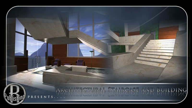 Architectural staircase bldg poser vue 3d models for Architecture 3d vue 3d