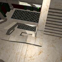Architectural Staircase & Bldg (Poser & Vue) image 3
