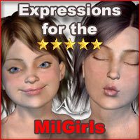 Expressions for the MilGirls 3D Figure Essentials A_