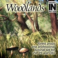 Woodlands: Forest Props & Bonus Tutorial 3D Models winnston1984