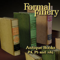 Formal Finery Antique Books 3D Models winnston1984