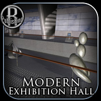 Modern Exhibition Hall for Poser 3D Models RPublishing