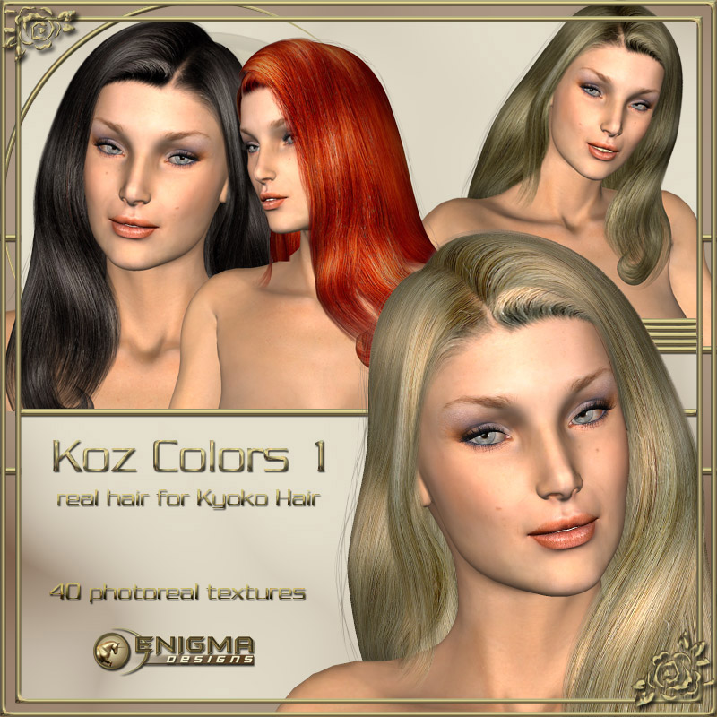 Koz Colors 1 - Real Hair for Kyoko Hair