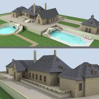 Big Country House 1 3D Models TonyBaas
