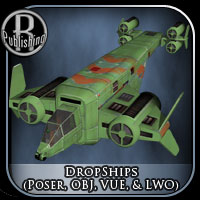 Dropships (Poser, OBJ, VUE & LWO) Themed Stand Alone Figures Transportation RPublishing