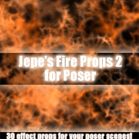Jepe's Fire Props 2 for Poser 3D Models 2D Jepe