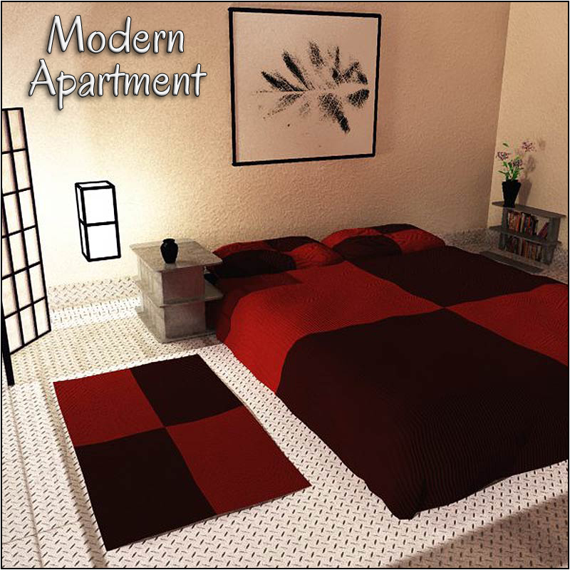 Modern Apartment (Poser & Vue)