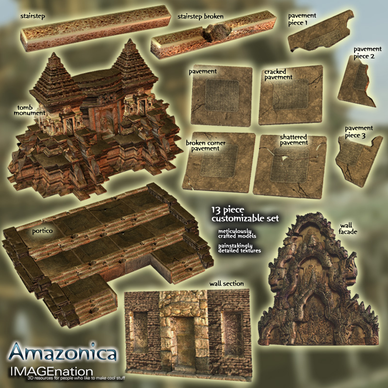 Amazonica - Ruin/Temple Building Pack 1