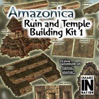 Amazonica - Ruin/Temple Building Pack 1 3D Models winnston1984