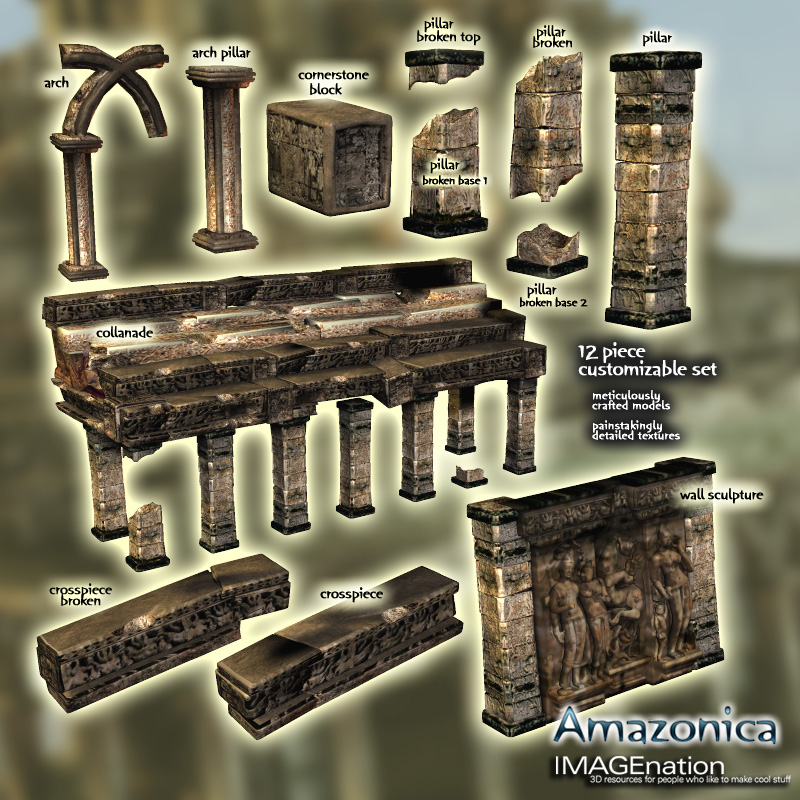 Amazonica - Ruin/Temple Building Pack 2