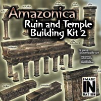 Amazonica - Ruin/Temple Building Pack 2 3D Models winnston1984