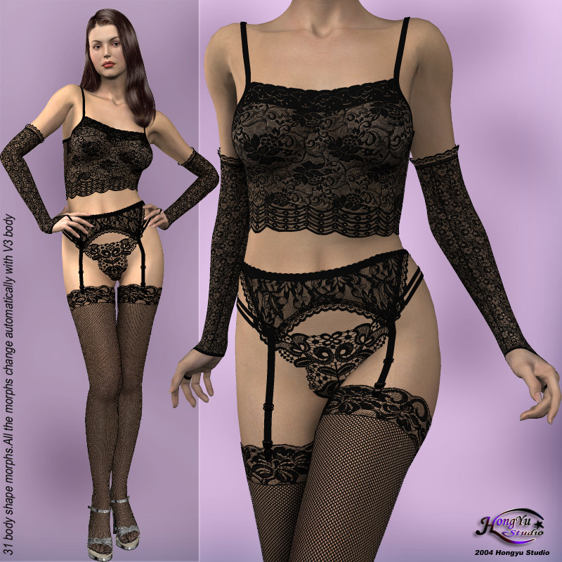 Lace Lingerie Set for V3