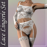 Lace Lingerie Set for V3 Software Clothing hongyu