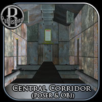 Central Corridor (Poser & OBJ) 3D Models RPublishing